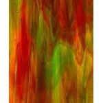 Vidro Kokomo Verde com Vermelho