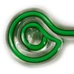 Bastão de Vidro Verde / Branco - 200 gramas