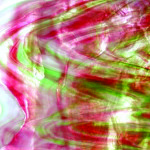 Vidro Rosa Dourado / Verde Opalescente