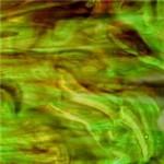 Vidro Marrom Escuro / Verde Opalescente